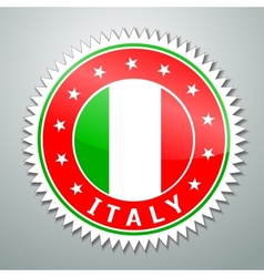 Italy flag label vector image