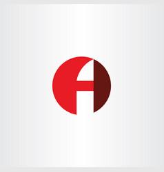 letter f and a fa red logo symbol icon design vector image