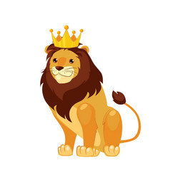 lion funny alphabet animal vector image