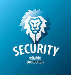 lion logo for security guards vector image