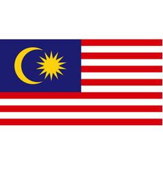 Malaysia flag icon in flat style national sign vector