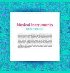 music instruments paper template vector image
