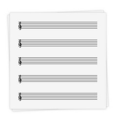 music notebook sheet vector image