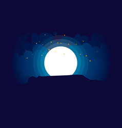 night landscape with stars and rock vector image