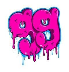 Ninety nine graffiti vector