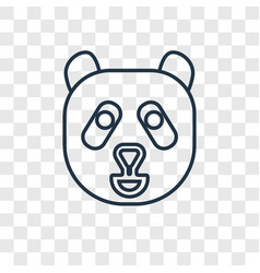 panda bear concept linear icon isolated on vector image