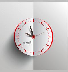 paper clock - analog time symbol vector image