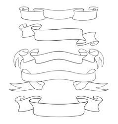 paper scrolls outline set of vector image