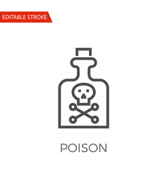 poison icon vector image