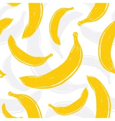 Pop art banana seamless pattern vector image