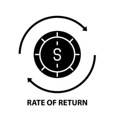 Rate return icon black sign with vector
