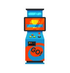 Retro arcade game machine amusement gaming vector