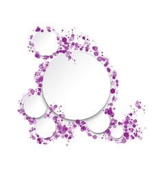 round frame for text vector image