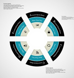 Round infographic consists of six parts vector