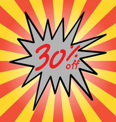 Sale 30 text vector image