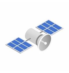 Satellites isometric 3d icon vector