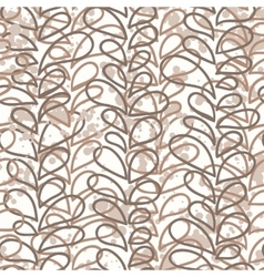 seamless pattern of colored vines vector image