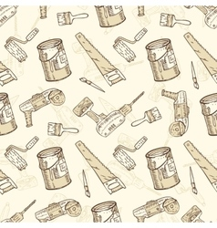 Seamless Pattern with Brushes Paints and vector image