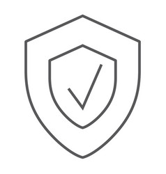 Security status thin line icon safety and protect vector