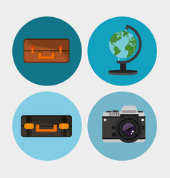set equipment travel vacation vector image