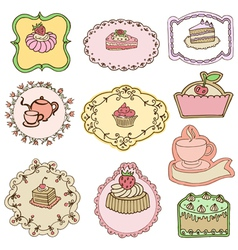 Set of Cute Cake Tags vector image
