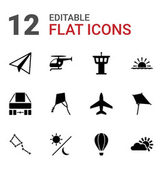 sky icons vector image