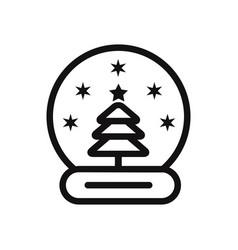 snow globe icon vector image