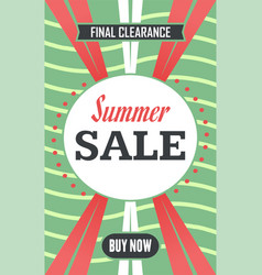 Social media summer sale banner vector