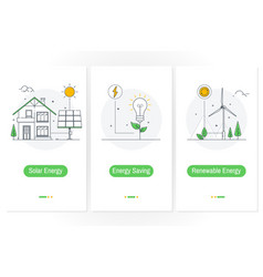 Solar energy energy saving renewable energyux vector