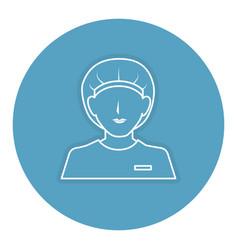 Surgeon avatar character icon vector