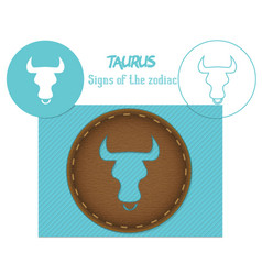 Taurus signs of the zodiac lazenaya cutting it vector