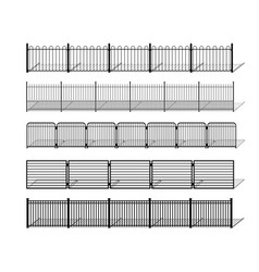 various simple metal wrought iron or steel fence vector image