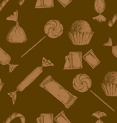 Vintage candy background vector image