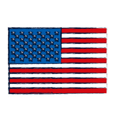 Watercolor silhouette of flag the united states vector