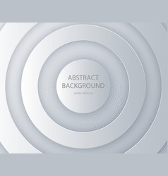 White paper cut round background abstract 3d vector