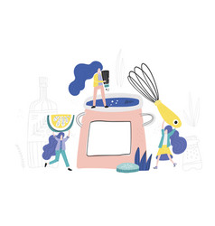 women in the kitchen vector image