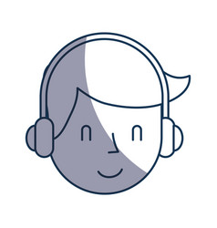 Young man with earphone vector