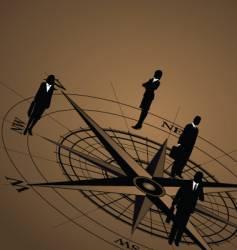 Compass figure vector