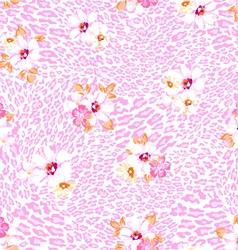 pink pastel flower on animal vector image