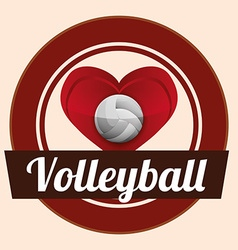 Volleyball design vector image