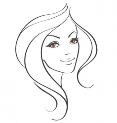 women's face vector image vector image