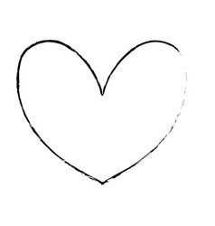 Figure cute heart to love symbol design vector
