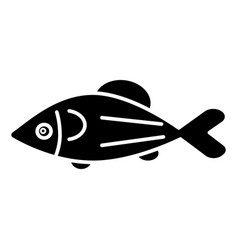 fish salmon icon black sign vector image