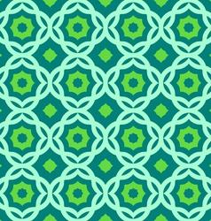 green geometric pattern vector image vector image