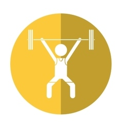 man weight lifter sport athlete shadow vector image vector image