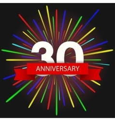 modern holiday anniversary invitation card vector image