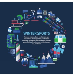Winter Sports Card Template vector image