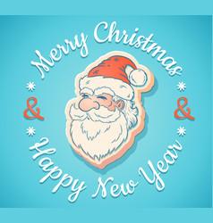 emblem with santa claus vector image vector image