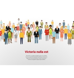 Large group of cartoon people background vector image