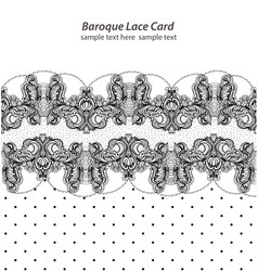 vintage delicate lace card retro dotted style vector image vector image